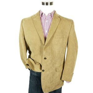 Calvin Klein Mens Corduroy Three Button Sport Coat